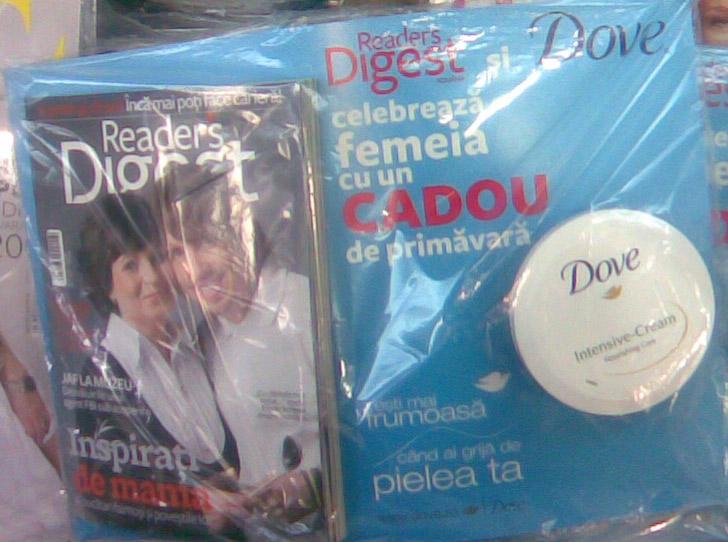 Reader\'s Digest Romania :: Crema hidratanta Dove :: Martie 2009