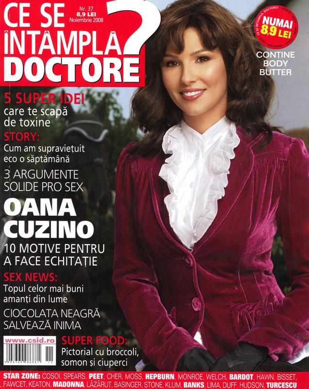 Coperta revistei Ce se intampla, Doctore?, Noiembrie 2008