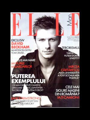 Elle Man :: (Suplimentul revistei Elle Romania) :: David Beckham :: Noiembrie 2008