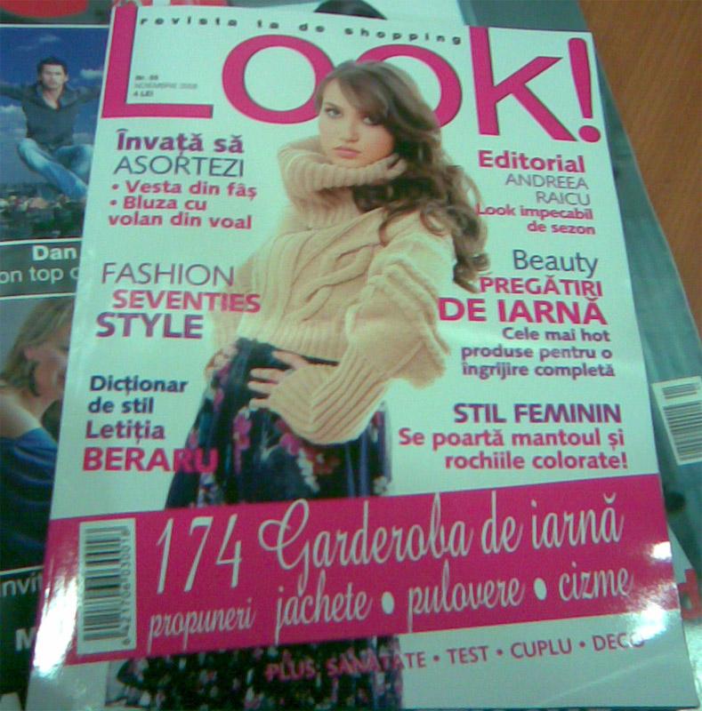 Coperta revistei Look! Romania, Noiembrie 2008