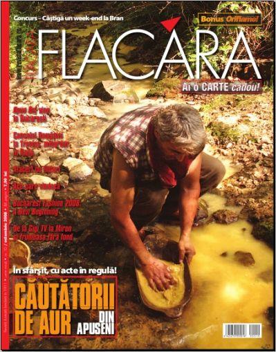 Coperta revistei Flacara, Octombrie 2008