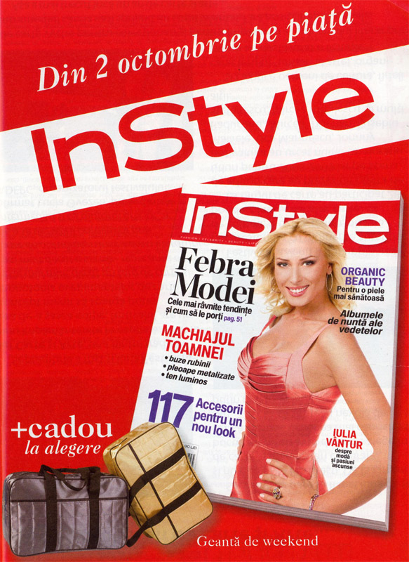 Promo revista InStyle, Octombrie 2008