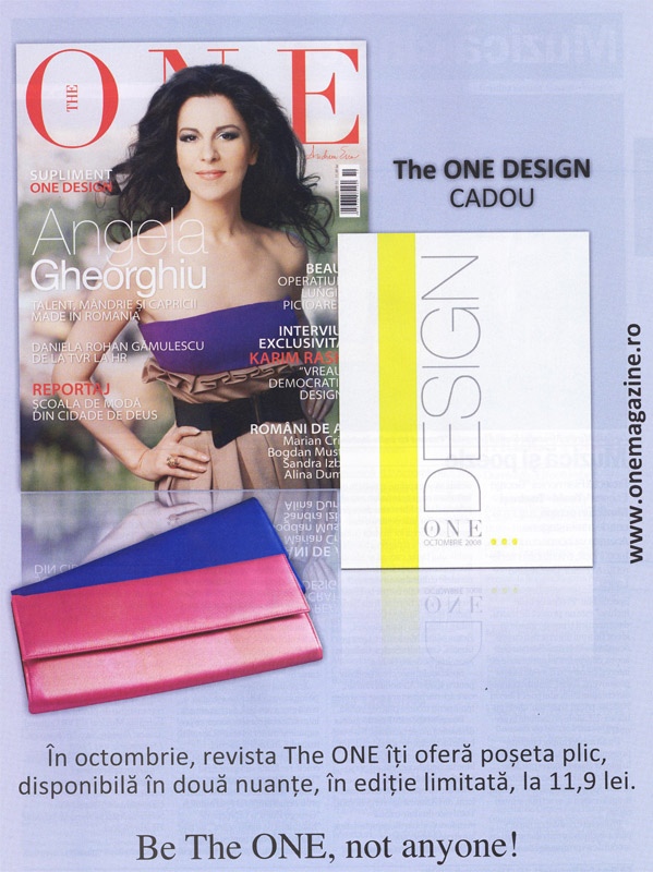 Promo revista The One, Octombrie 2008