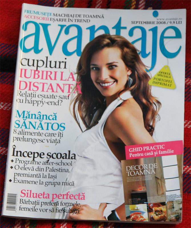 Coperta revistei Avantaje, Septembrie 2008