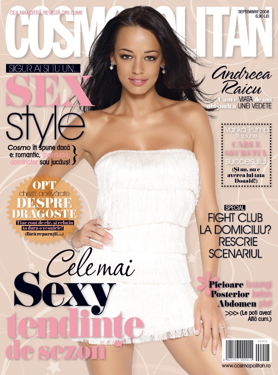 Coperta revistei Cosmopolitan, Septembrie 2008