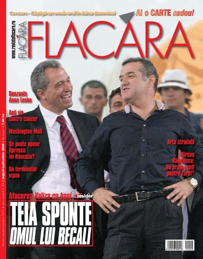 Coperta revistei Flacara, August-Septembrie 2008