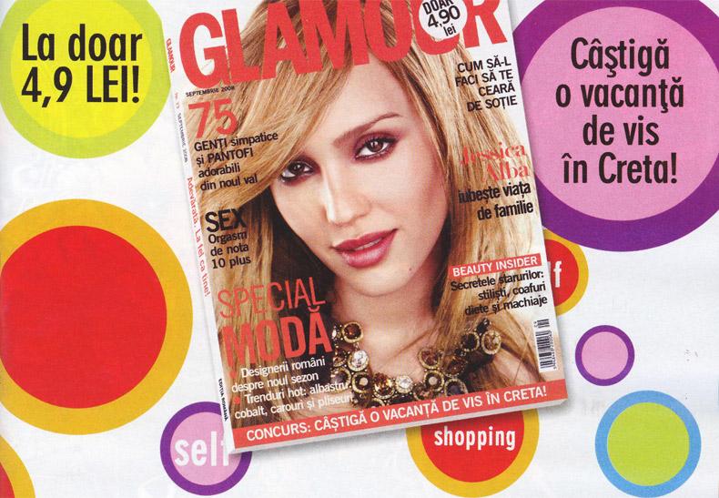 Coperta revistei Glamour, Septembrie 2008
