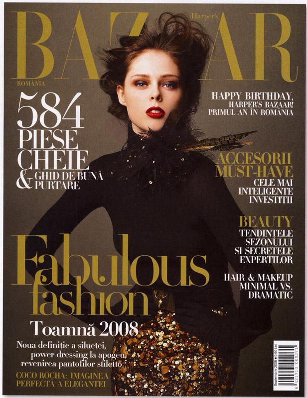 Coperta revistei Harper\'s Bazaar, Septembrie 2008
