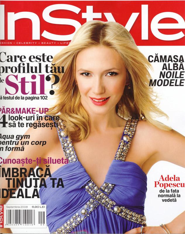 Coperta revistei InStyle, Septembrie 2008