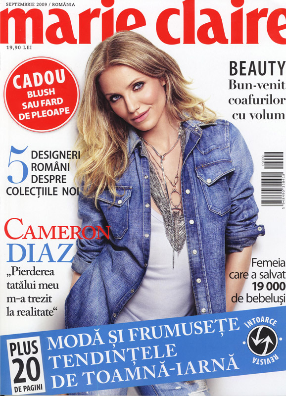 Marie Claire ~~ Cover girl Cameron Diaz ~~ Septembrie 2009