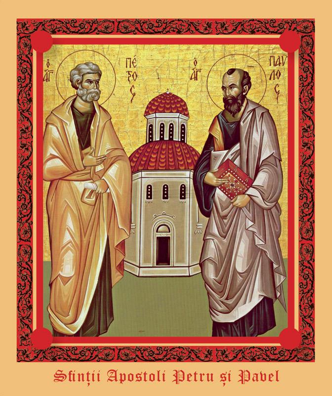Iconita sfintita cu Sfintii Apostoli Petru si Pavel, cadou la revista Libertatea pentru Femei ~~ 28 Iunie 2010