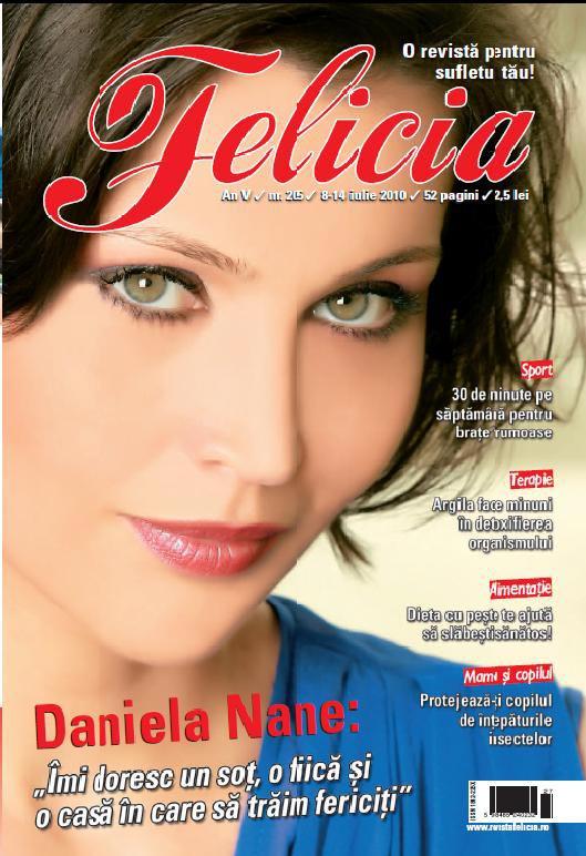 Felicia ~~ Coperta: Daniela Nane ~~ 8 Iulie 2010