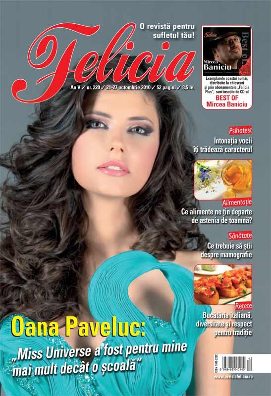 Felicia ~~ Coperta: Oana Paveluc ~~ 21 Octombrie 2010