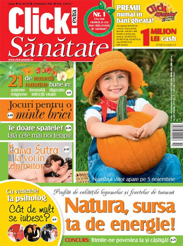 Click sanatate ~~ Natura, sursa ta de energie ~~ Octombrie 2010