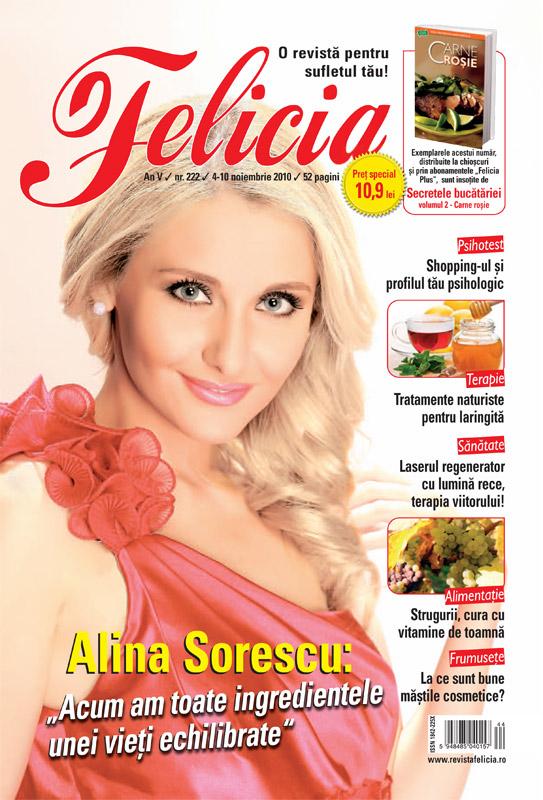 Felicia ~~ Coperta: Alina Sorescu ~~ 4 Noiembrie 2010