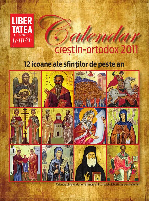 Calendarul crestin-ortodox pentru 2011, cadou la revista Libertatea pentru femei din 3 Decembrie 2010