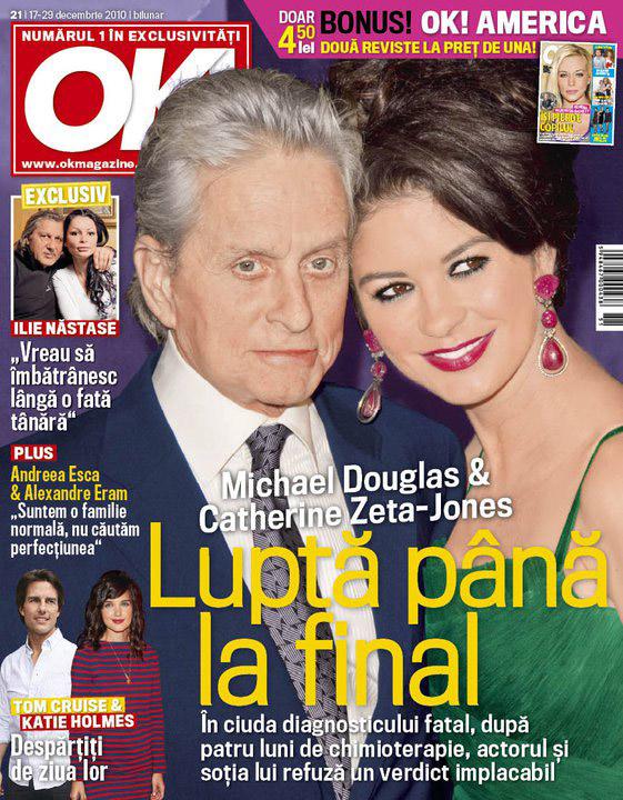 OK! Romania ~~ Cover people: Michael Douglas si Catherine Zeta-Jones ~~ 17 Decembrie 2010