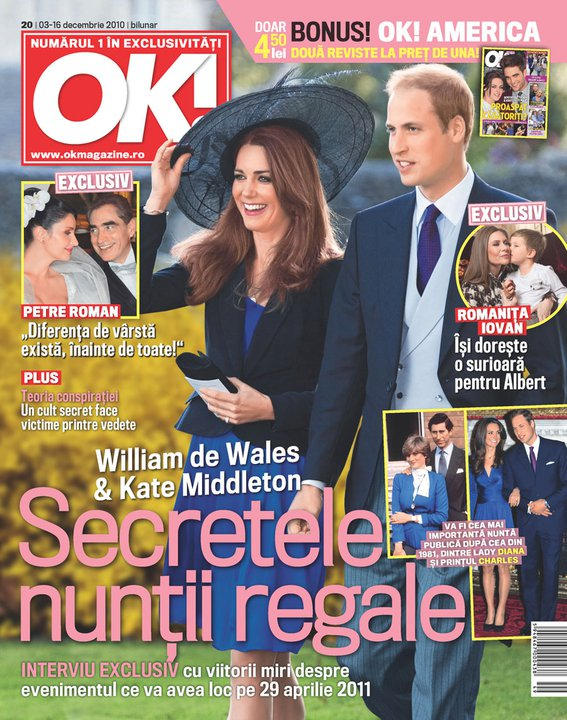 OK! Magazine Romania ~~ Cover people: William de Wales si Kate Middleton ~~ 3 Decembrie 2010