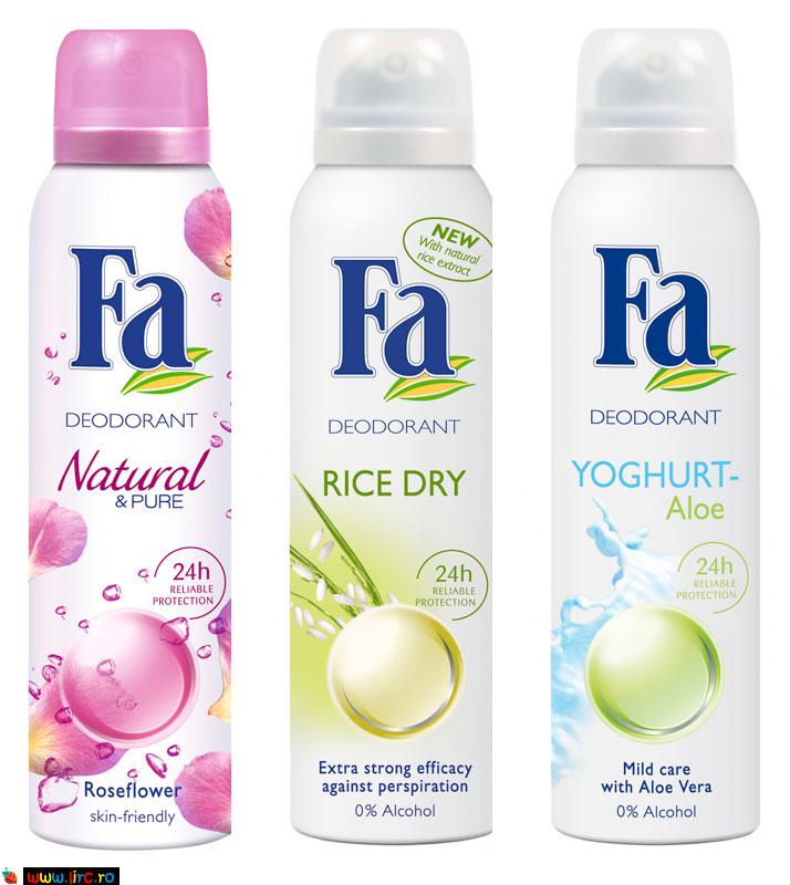 Deodorante FA, cadou la revista FEMEIA. de Ianaurie 2010
