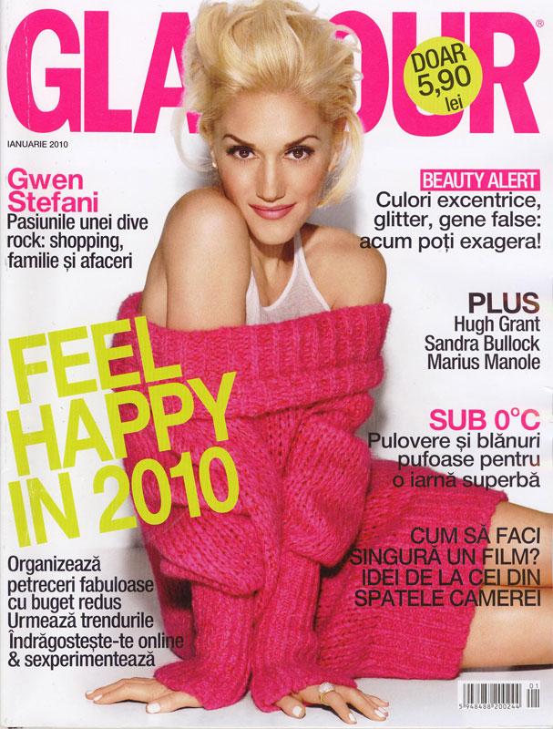 Glamour Romania ~~ Coperta: Gwen Stefani ~~ Ianuarie 2010
