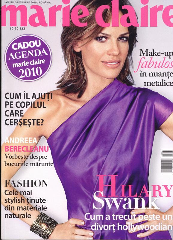 Marie Claire Romania ~~ Coperta: Hilary Swank ~~ Ianuarie-Februarie 2010