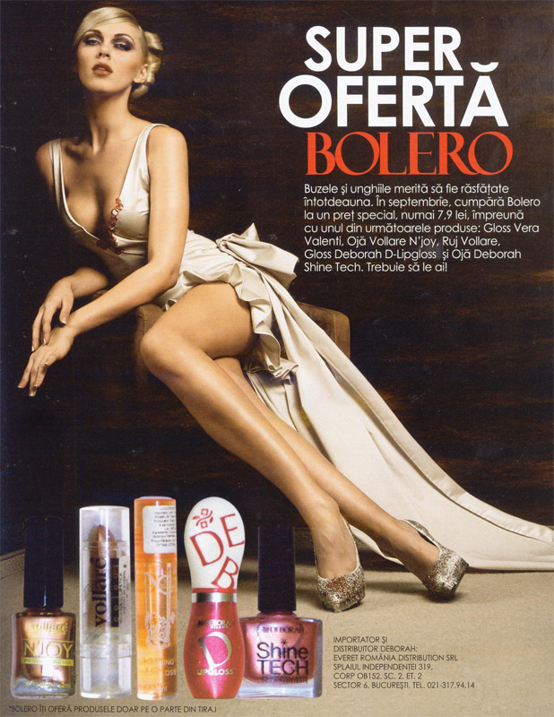 Bolero ~~ Promo cadouri de make-up ~~ Octombrie 2009