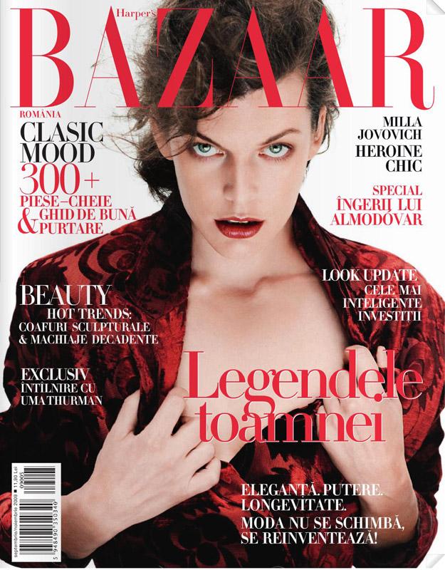 Harper\'s Bazaar Romania ~~ Milla Jovovich ~~ Toamna 2009