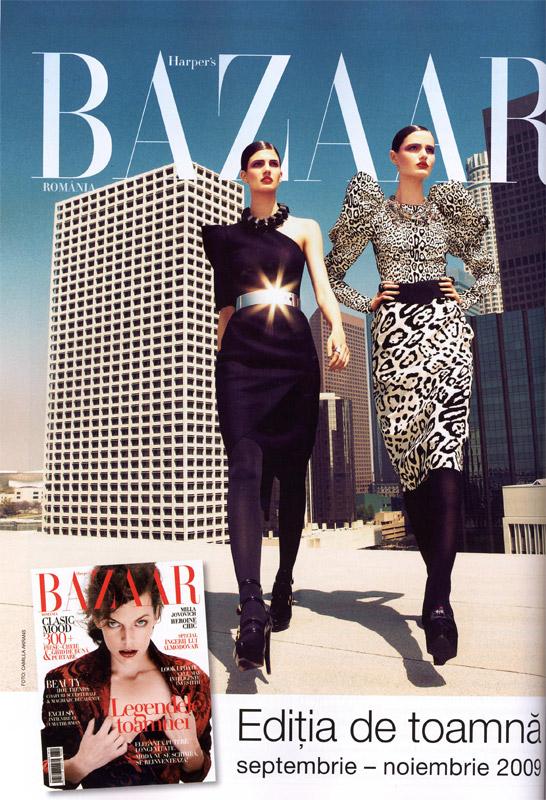 Harper´s Bazaar Romania ~~ Milla Jovovich ~~ Editia de toamna Septembrie-Noiembrie 2009