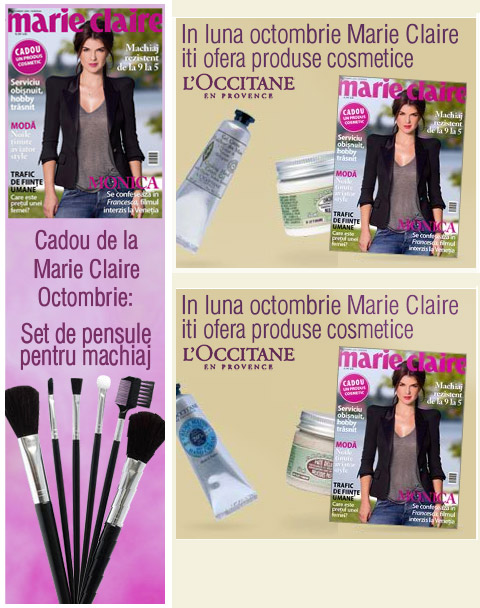 Marie Claire ~~ Promo cadouri ~~ Octombrie 2009