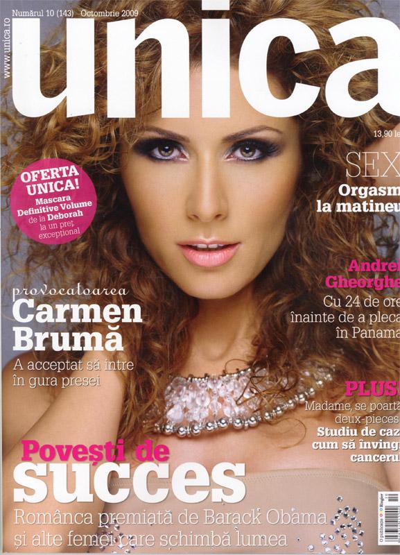 Unica ~~ Coperta Carmen Bruma ~~ Octombrie 2009