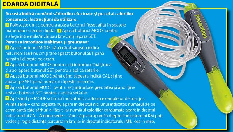 Instructiuni de utilizare a corzii digitale din COLECTIA FITNESS BY PREVENTION ~~ Octombrie 2010