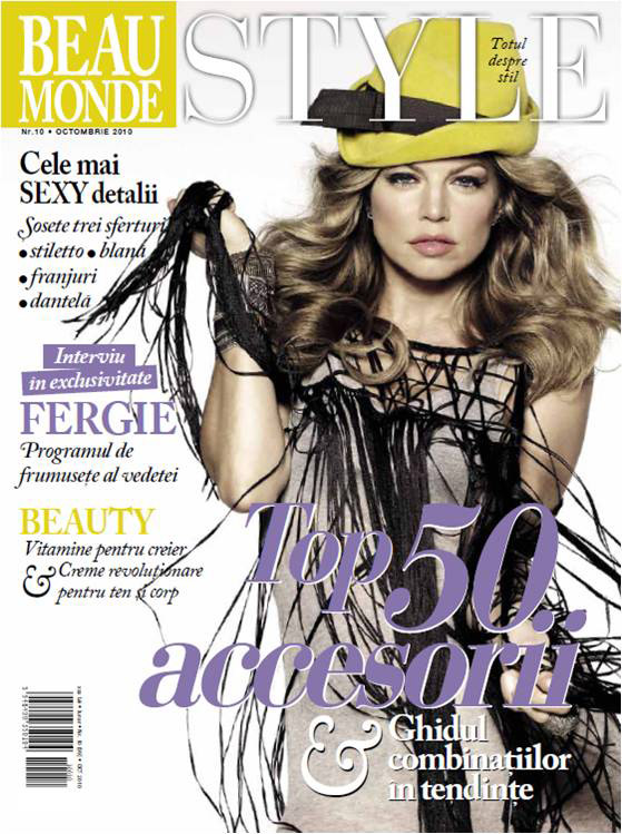 Beau Monde Style ~~ Cover gril: Fergie ~~ Octombrie 2010