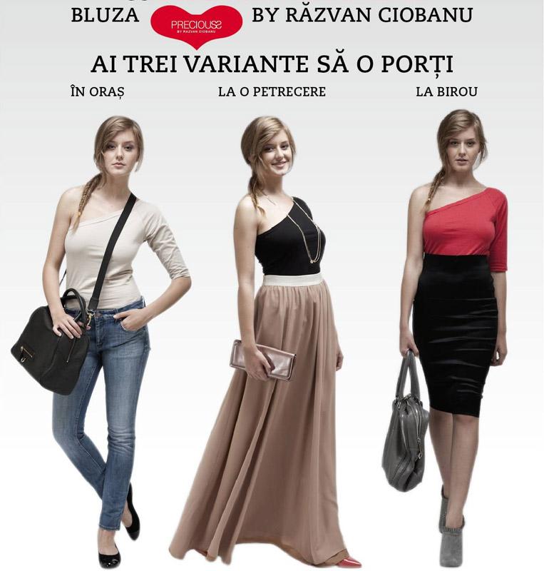 Bluza cu o maneca, PRECIOUSS by RAZVAN CIOBANU ~~ cadoul revistei Marie Claire Romania ~~ Octombrie 2010