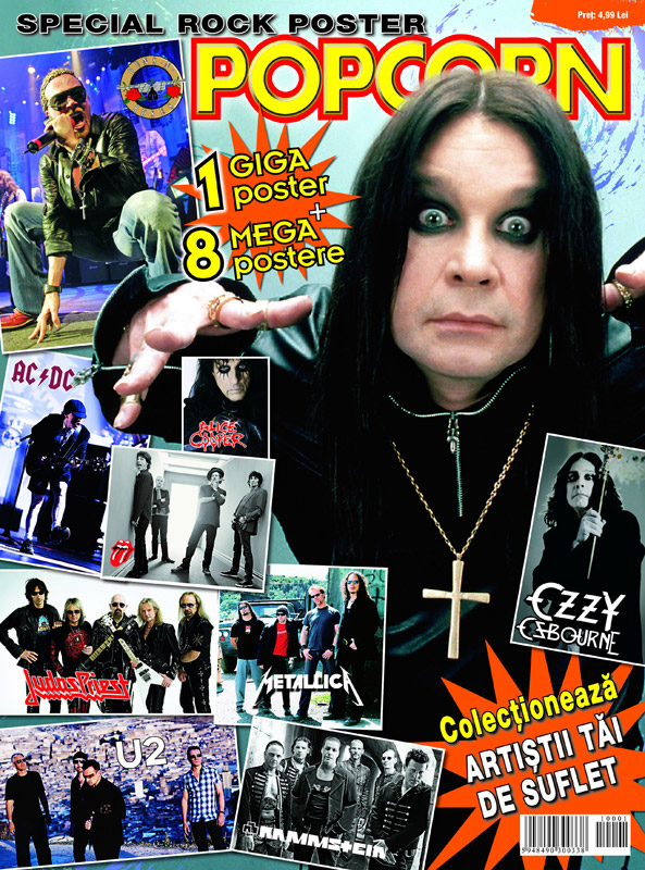 Popcorn ~~ Special Rock Poster ~~ Cover: Ozzy Osborne ~~ Septembrie-Noiembrie 2010