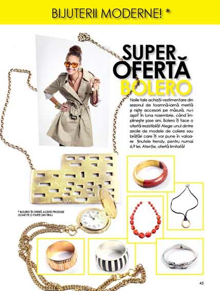 Bolero ~~ Promo bijuterii cadou ~~ Noiembrie 2010