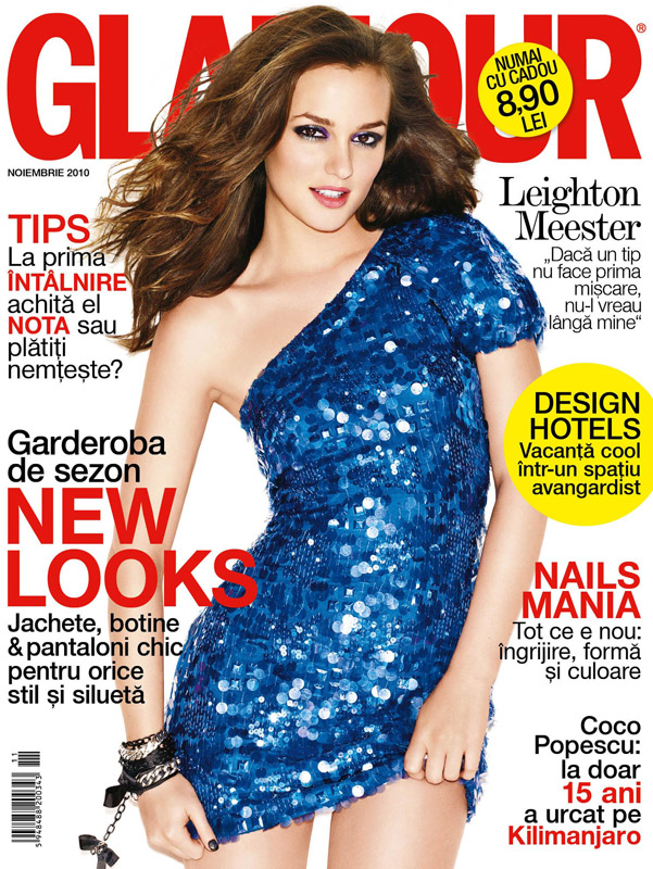 Glamour Romania ~~ Cover girl: Leighton Meester ~~ Noiembrie 2010