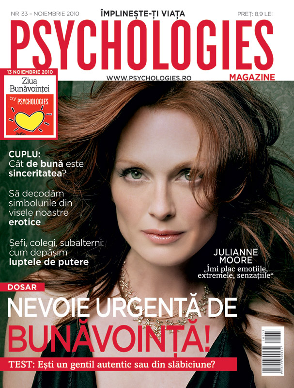 Psychologies ~~ Cover girl: Julianne Moore ~~ Noiembrie 2010