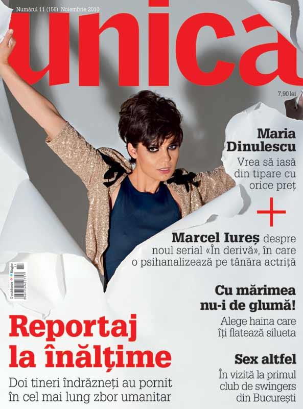 Unica ~~ Coperta: Maria Dinulescu ~~ Noiembrie 2010