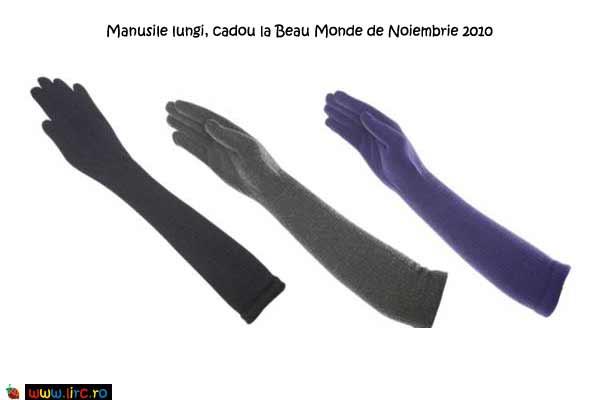 Manusile lungi, cadou la Beau Monde de Noiembrie 2010