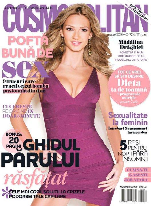 Cosmopolitan Romania ~~ Madalina Draghici ~~ Noiembrie 2010