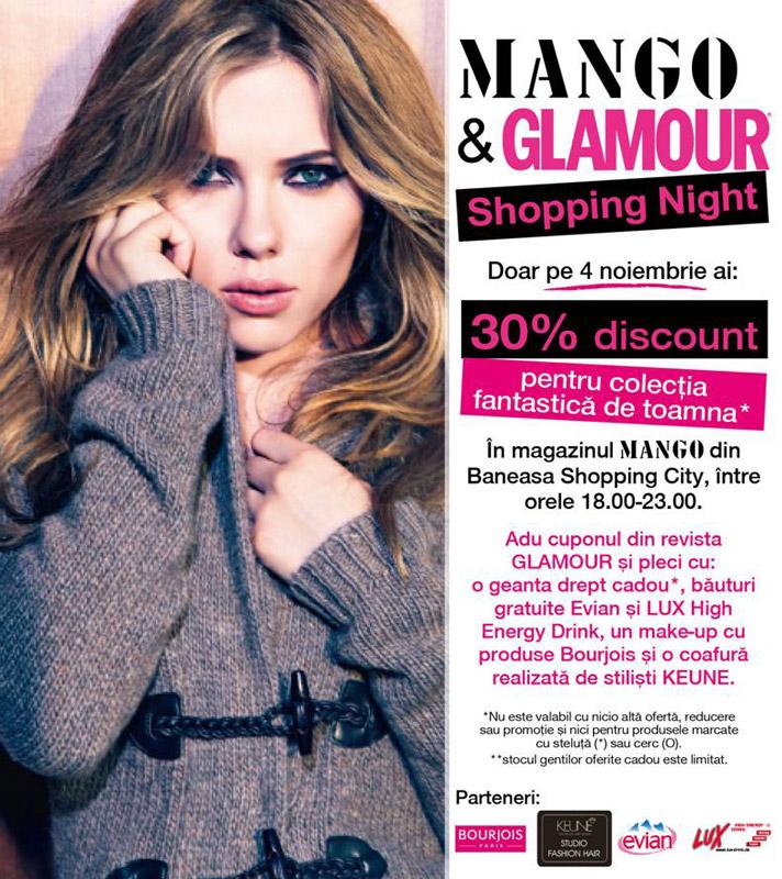 Glamour & Mango Shopping Night ~~ 4 Noiembrie 2010