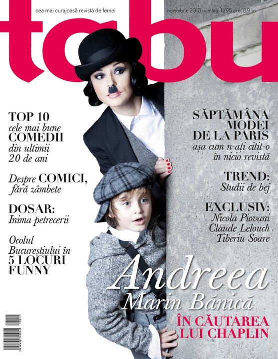 tabu ~~ Coperta: Andreea Marin Banica si David Cirneci ~~ Noiembrie 2010