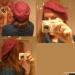 Basca crosetata de culoare burgundy de la Unica ~~ Noiembrie 2010