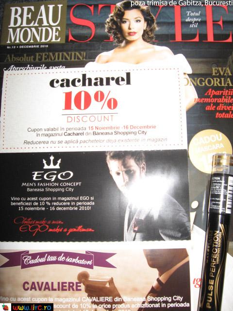 Beau Monde Style ~~ Mascara Maybelline si voucherele ~~ Decembrie 2010