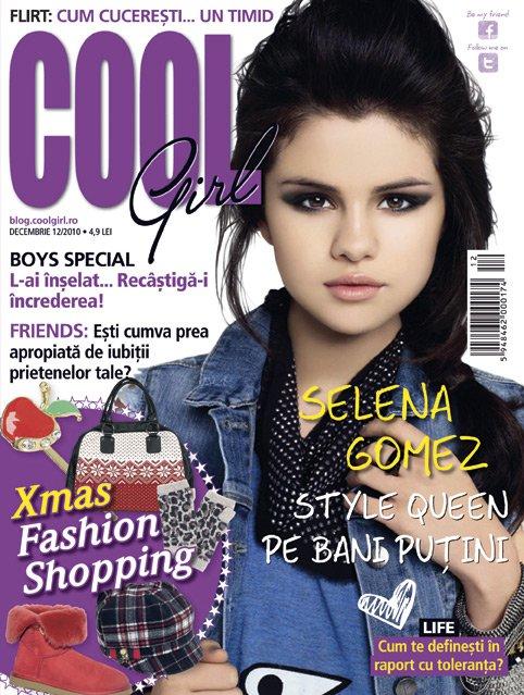 Cool girl ~~ Cover girl: Selena Gomez ~~ Decembrie 2010