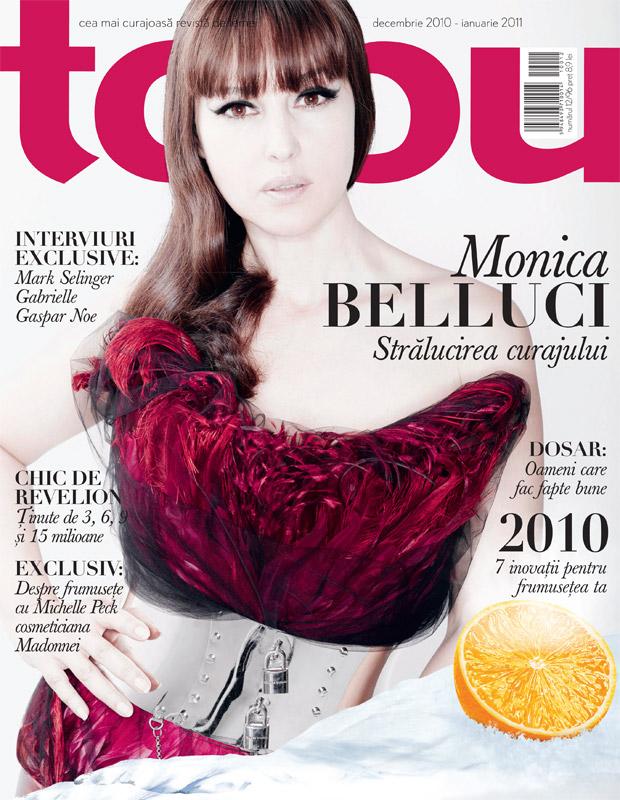 Tabu ~~ Cover girl: Monica Belluci ~~ Decembrie 2010 - Ianuarie 2011