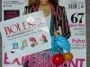Brosa de plastic colorata, cadou la revista Bolero ~~ Februarie 2010