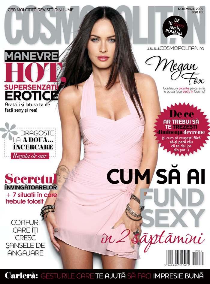 Cosmopolitan Romania ~~ Cover girl Megan Fox ~~ Noiembrie 2009