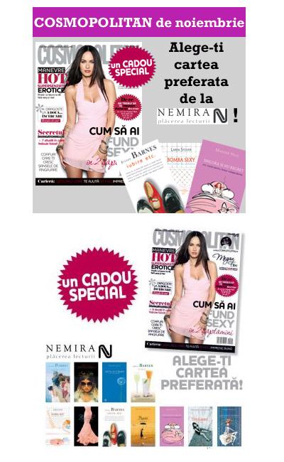 Cosmopolitan Romania ~~ Promo carti de la editura Nemira ~~ Noiembrie 2009