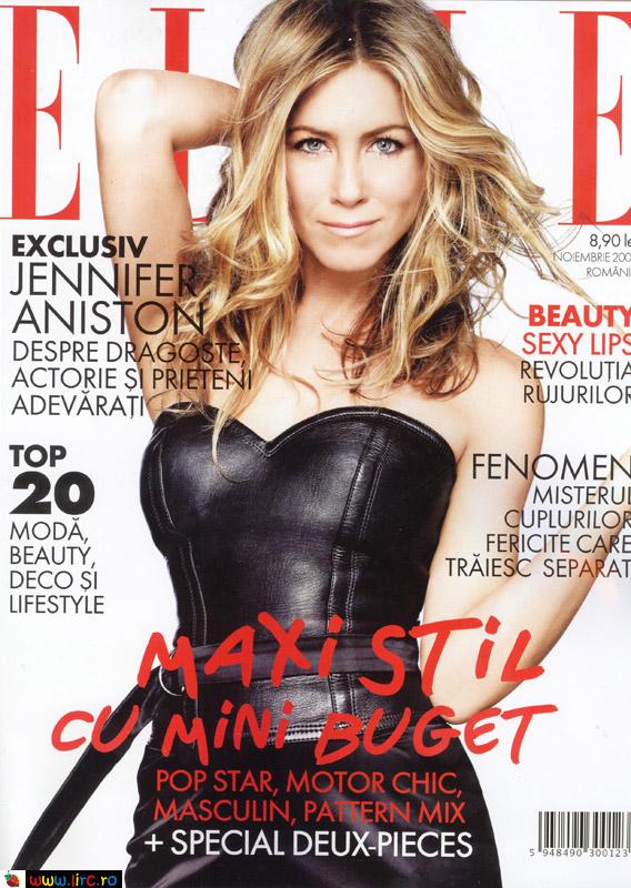 Elle Romania ~~ Cover girl: Jennifer Aniston ~~ Noiembrie 2009